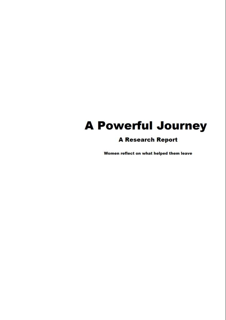 The front cover of A Powerful Journey: A Research Report
