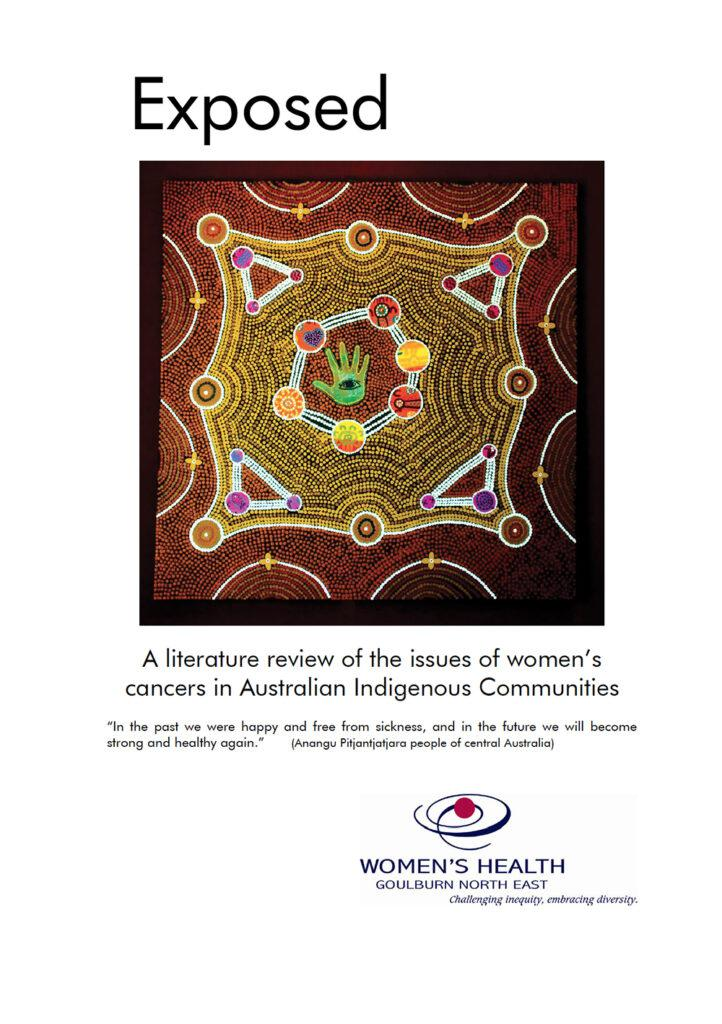The front cover of Exposed: A literature review of the issues of women's cancers in Australian Indigenous communities