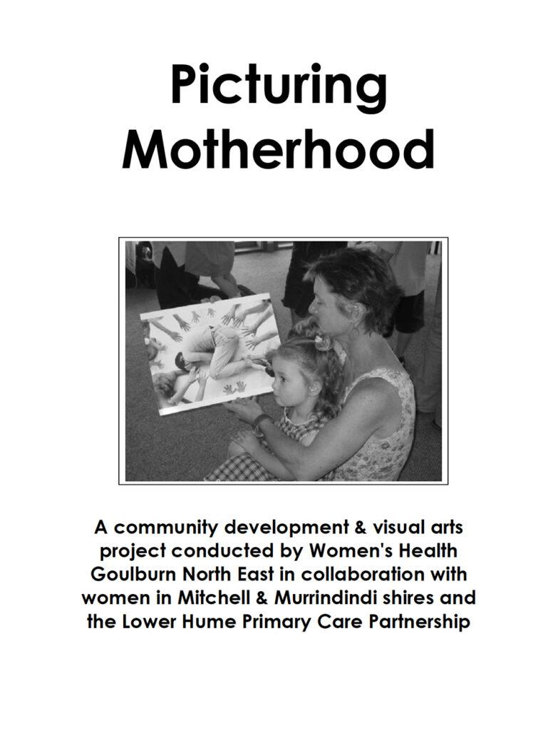 The front cover of the Picturing Motherhood report