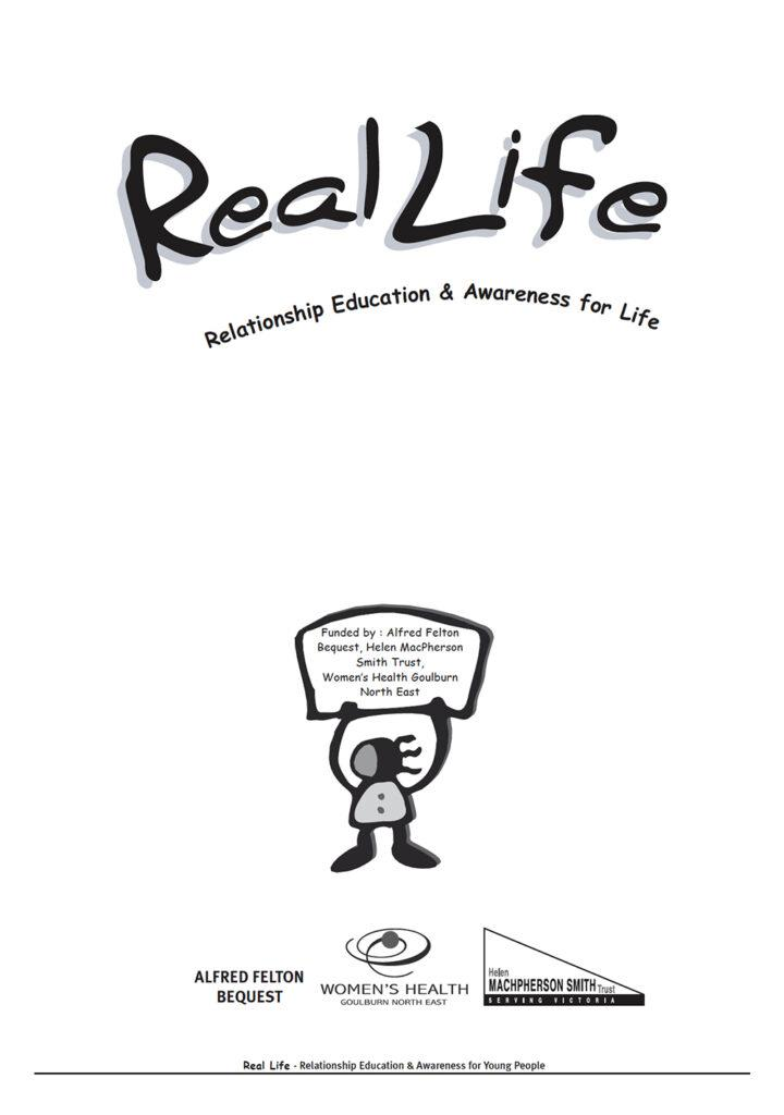 The front page of the REAL Life report