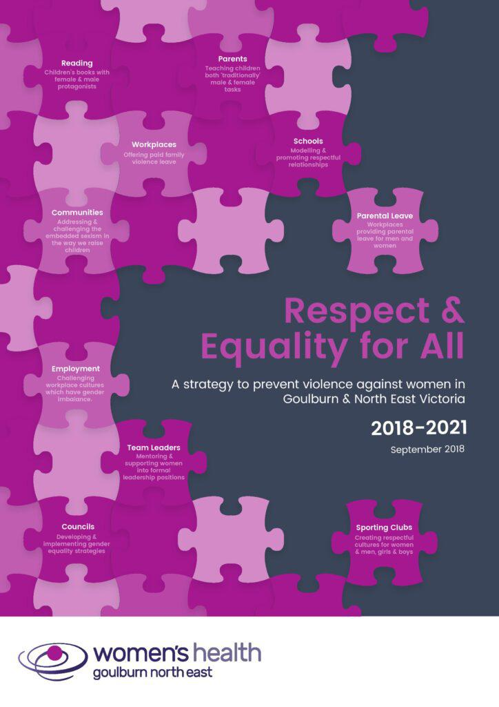 The front cover of the Respect and Equality for All strategy 2018-2021
